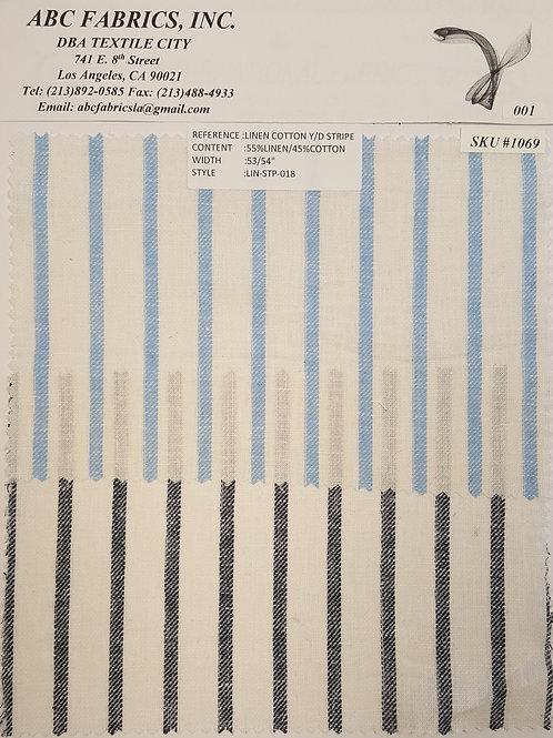 Linen Cotton Y/D Stripe # 1069
