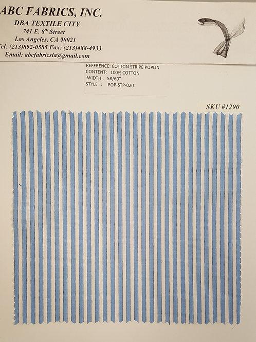 Cotton Stripe Poplin # 1290
