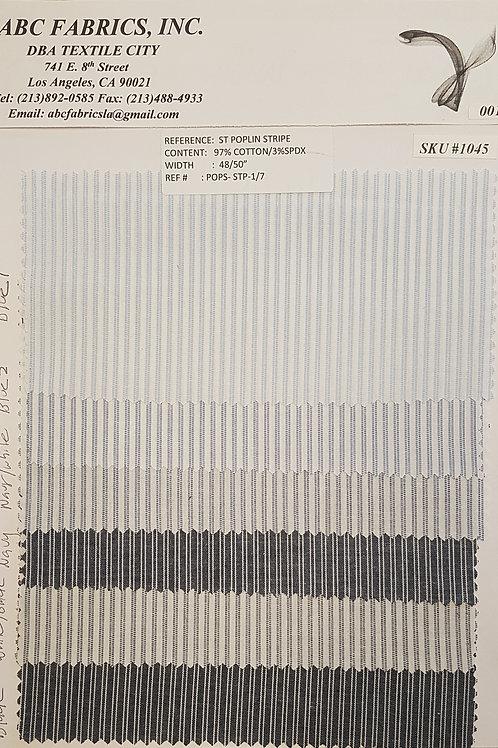 St Poplin Stripe # 1045