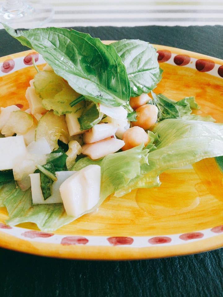 低温調理器 イカと豆のサラダ