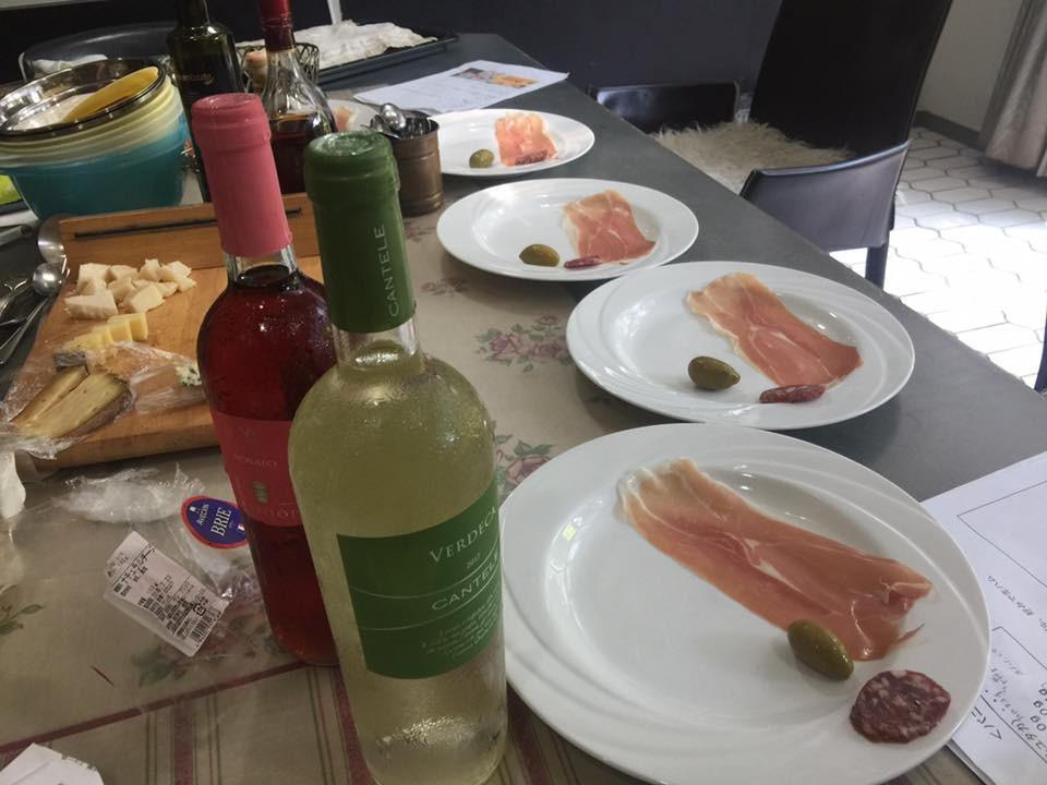 イタリアワインと生ハム
