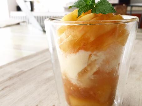 かき氷いり桃パフェ