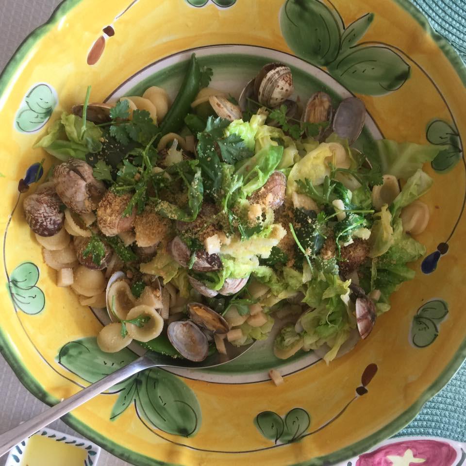 筍と春野菜のパスタ