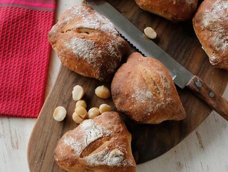 こねないパン!ヘーゼルナッツのリュスティック