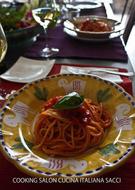 南イタリアのパスタ カポナータのスパゲッティー