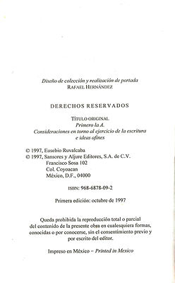 Primero_la_A,_1ª_ed._©_1997,_Sansores_y_