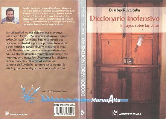 Diccionario inofensivo, forros. Ensayo.j