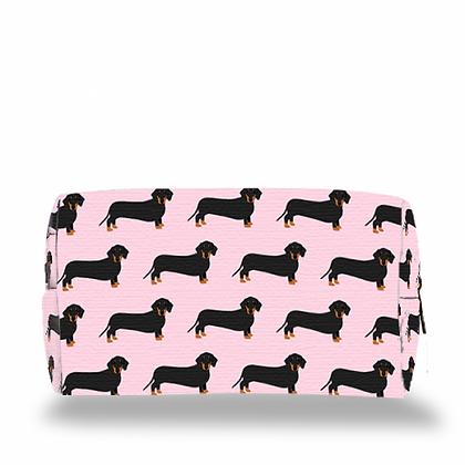 Make Up Bag – Pink Dachschund