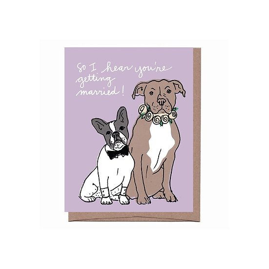 Wedding Dogs Card