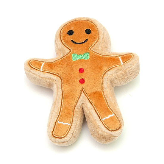 Christmas Sugar Cookie Plush Dog Toy (Gingerbread)
