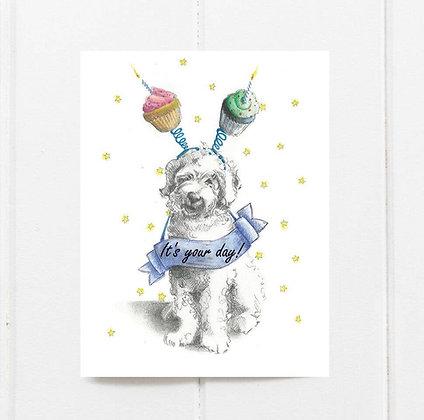 Cupcake Doodle Birthday Card