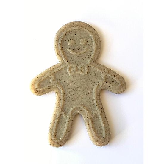 SodaPup Nylon Gingerbread Man Chew Toy - Medium/Large - Brown