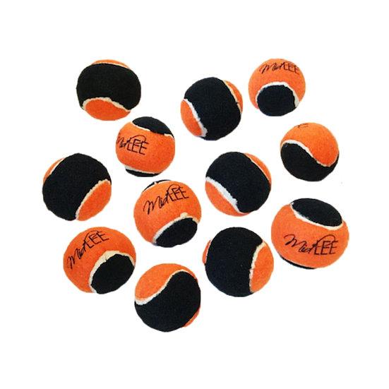 "Midlee X-Small Dog Tennis Balls 1.5"" - (Orange/Black)"