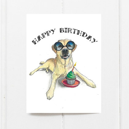 Cupcake Lab Birthday Card