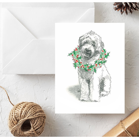 Classic Doodle Christmas Card