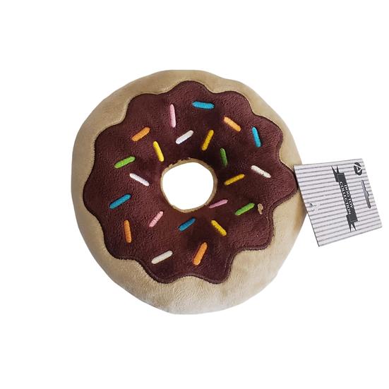 Chocolate Donut Plush Dog Toy