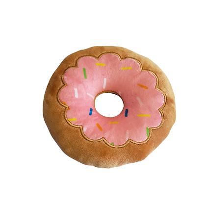Strawberry Donut Plush Dog Toy