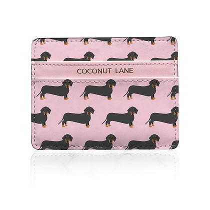 Card Holder – Pink Dachshund