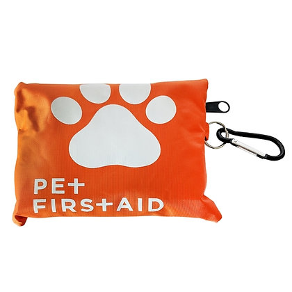 19 Piece Pet Travel First Aid Kit with Carabiner