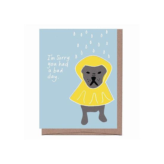 Dog Raincoat Sympathy Card