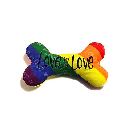 Love Is Love Plush Dog Toy