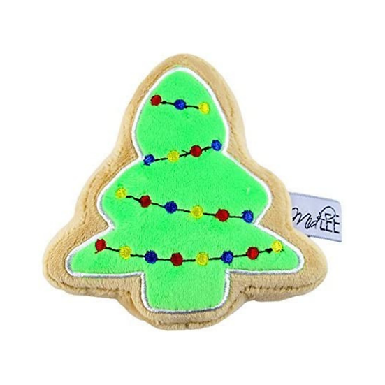 Christmas Sugar Cookie Plush Dog Toy (Christmas Tree)