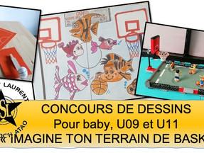 """Concours de dessin """"Imagine ton terrain de basket"""""""