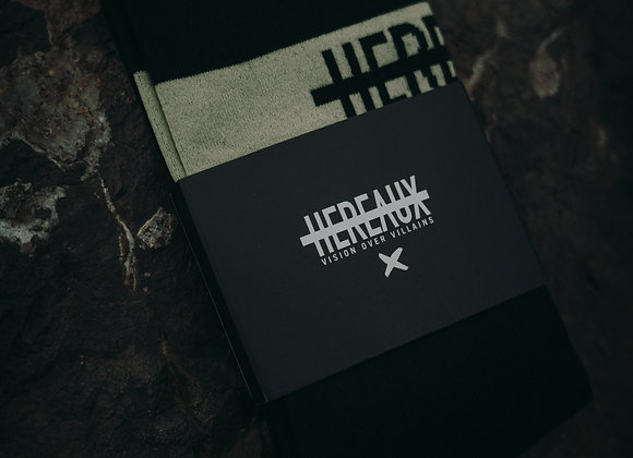 HEREAUX Black Moss Spat sock