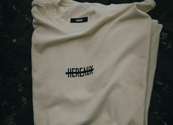 HEREAUX Marked Ones Tee in Creme