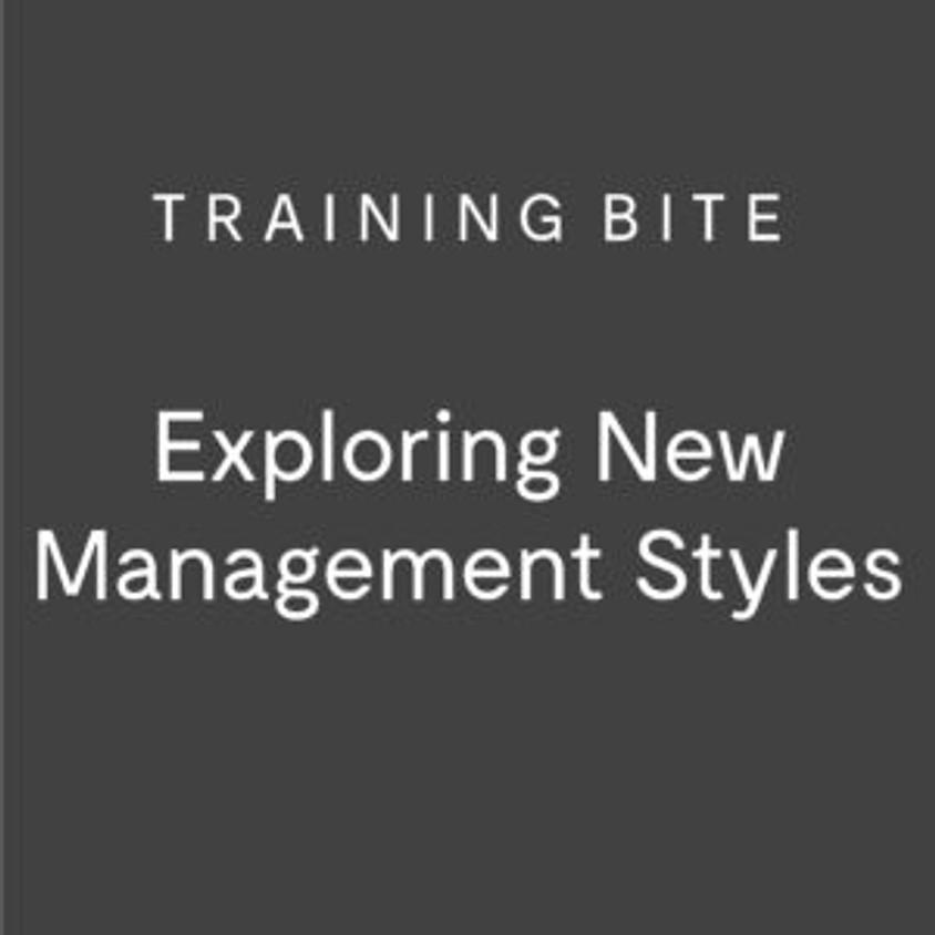 Training Bite: Exploring New Management Styles (North West)