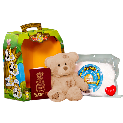Build your own brown patch bear boxed gift set