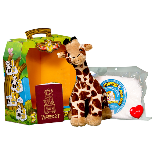 Gerry giraffe build your own bear boxed gift set
