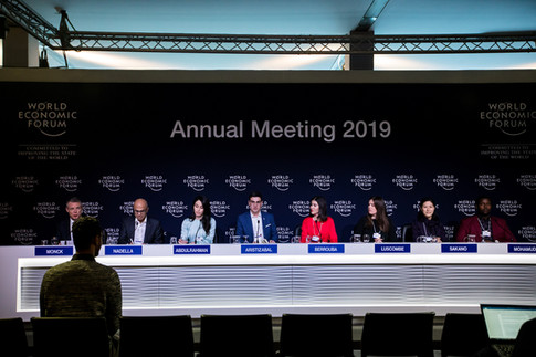 Ms Abdulrahman co-chairing the WEF Annual Meeting 2019 and sharing her perspective on the theme of 'Globalization 4.0'