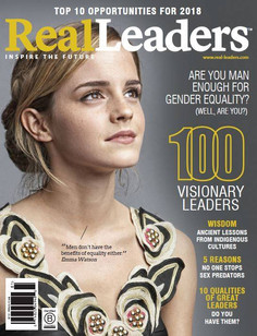 KESK Founder Featued in the 100 Real Leaders magazine