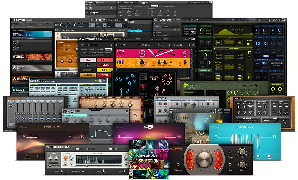Collection of VSTs within Komplete Start by Native Instruments