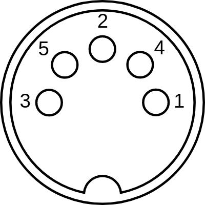MIDI connector head diagram