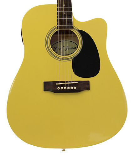 Limited Edition Colors Acoustic Electric Thinline Guitar With Single Cutaway