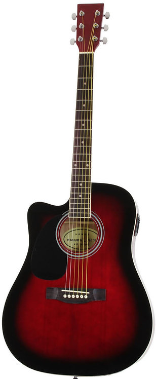 Acoustic Electric Thinline Guitar With Single Cutaway Left Handed