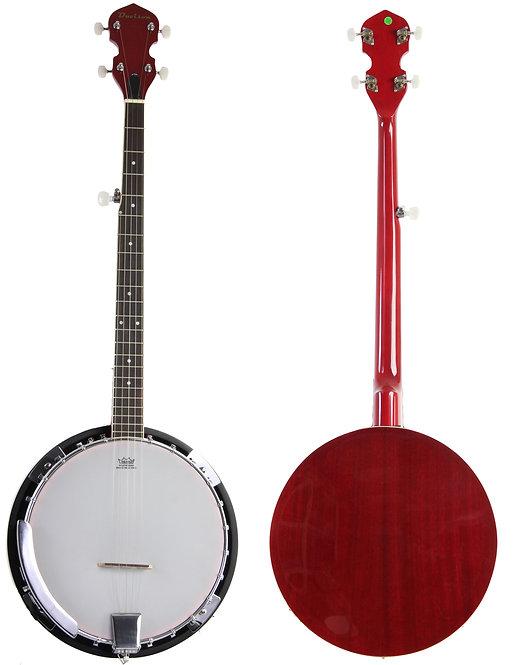 Red 5 String Banjo
