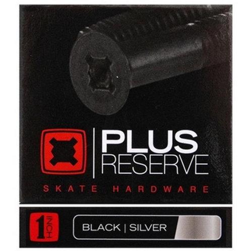 "Visserie skateboard Plus Reserve phillips Allen black/silver 1"" pouce"