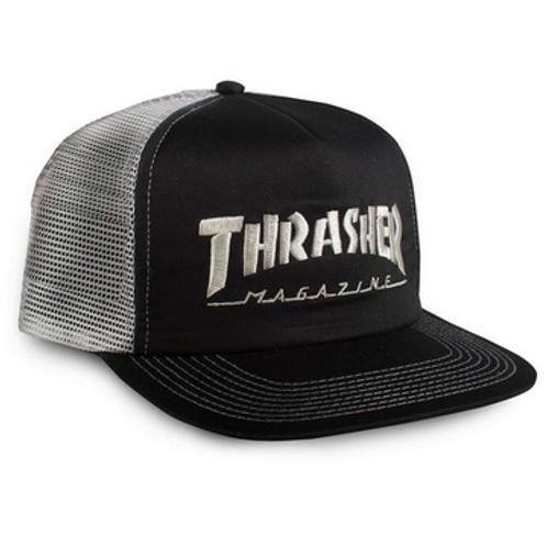 Thrasher Cap Mag Logo Mesh Emb  Black Grey