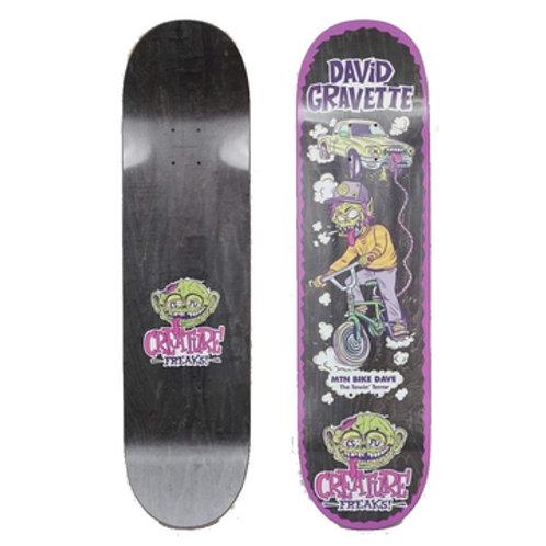 "Creature Gravette Freaks Skateboard Deck 8.3"""