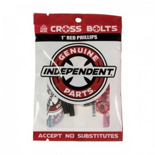 "Visserie skateboard Independent phillips Red 1"" pouce"