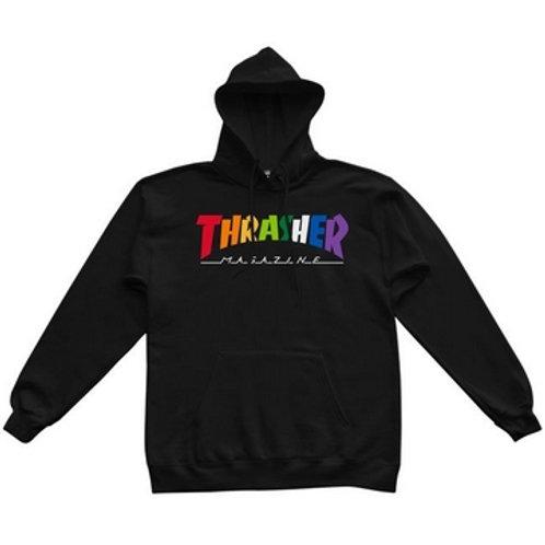 Sweat Thrasher Rainbow Mag Hood