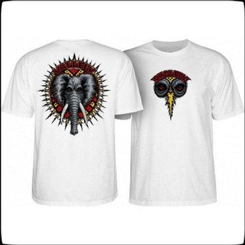 T-shirt Powell Peralta Skateboard White  Mike Vallely Elephant