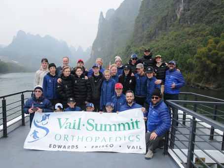 Dr. Janes in China Supporting Vail International Hockey