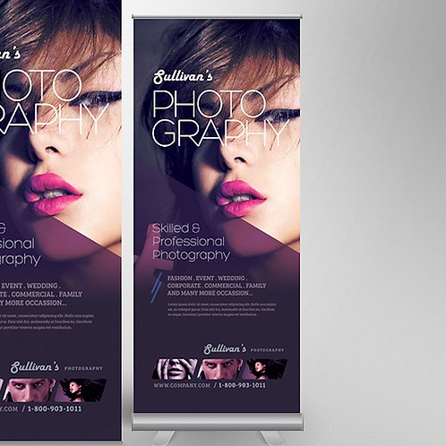 650mm X 1600mm Pull-up Banner