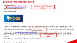Phishing scheme targeting POSB customers