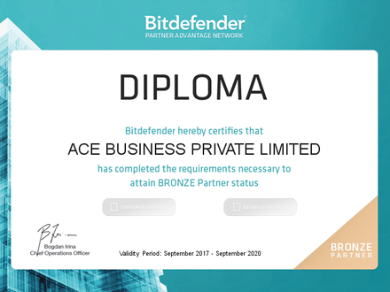 Bronze Partner for Bitdefender