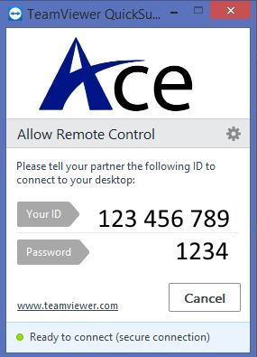 Ace Quick Support application